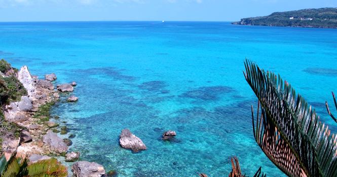 魂喜村の美しい海岸